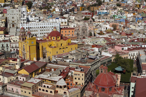 Wall Mural - the beautiful skyline of the city of guanajuato, mexico