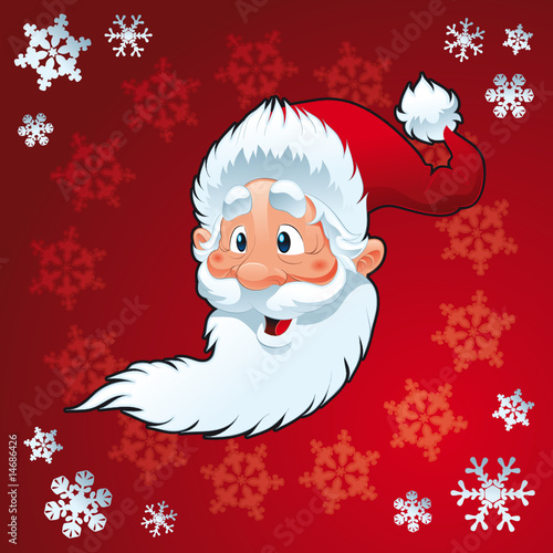 Wall Mural - Santa Claus - Christmas Card