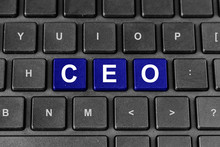Wall Mural - CEO or chief executive officer word on keyboard