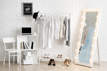 Wall Mural - Stylish interior of female dressing room