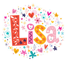 Wall Mural - Lisa female name decorative lettering type design