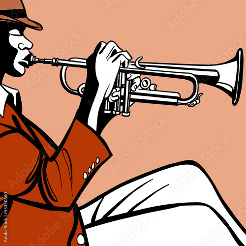 Sticker - Trumpet player