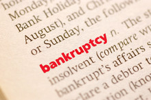 Wall Mural - Definition of  bankruptcy