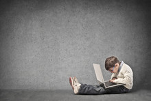 Wall Mural - Child with Laptop