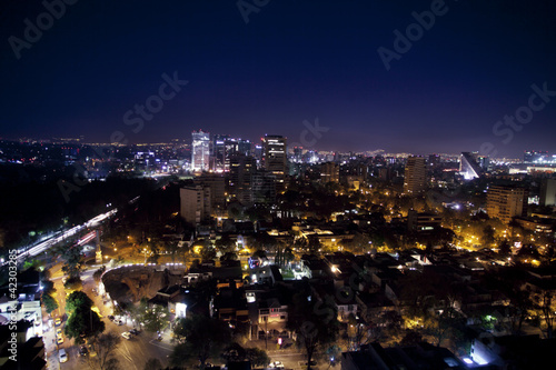 Wall Mural - the mexico city skyline at night