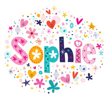Wall Mural - Sophie female name decorative lettering type design