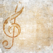 Wall Mural - musical grunge background