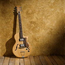 Wall Mural - vintage jazz guitar