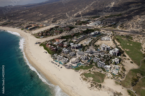 Wall Mural - shot from the air in los cabos