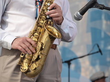 Wall Mural - Saxophone on stage
