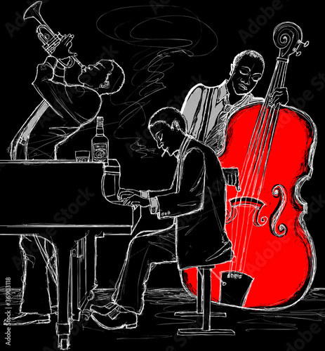 Sticker - Jazz band