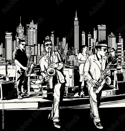 Sticker - Jazz band playing in New York