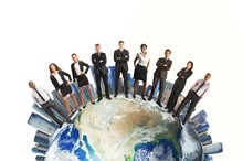 Wall Mural - Global business team